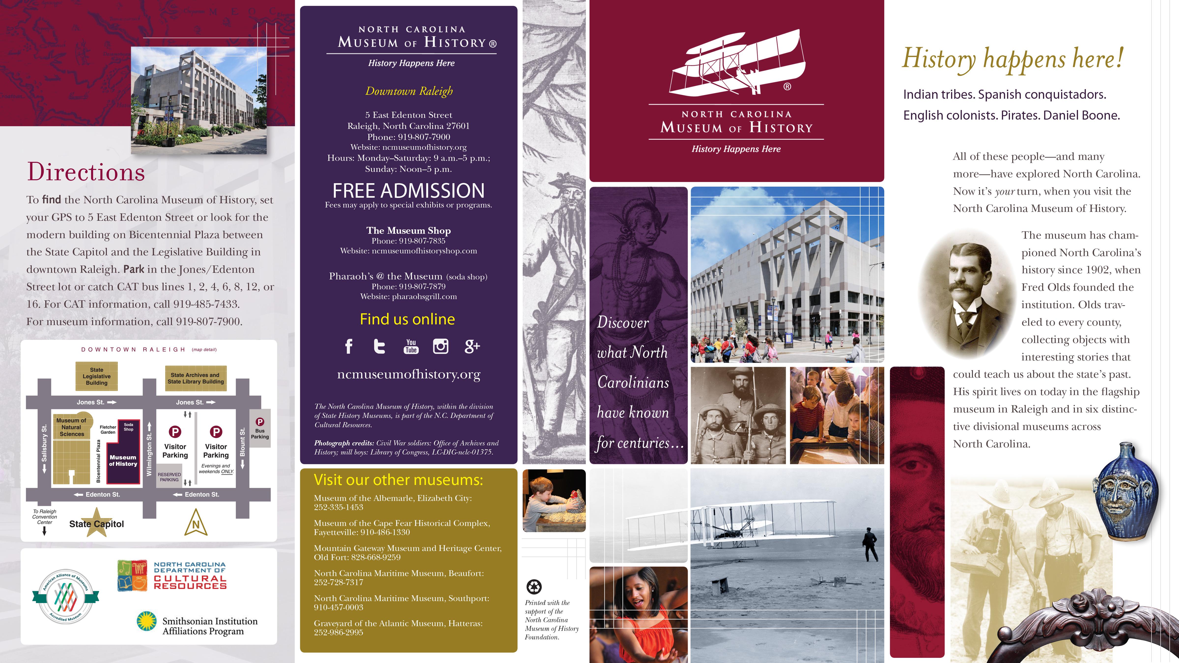 NcmohbrochureJpg   Museum    Brochures